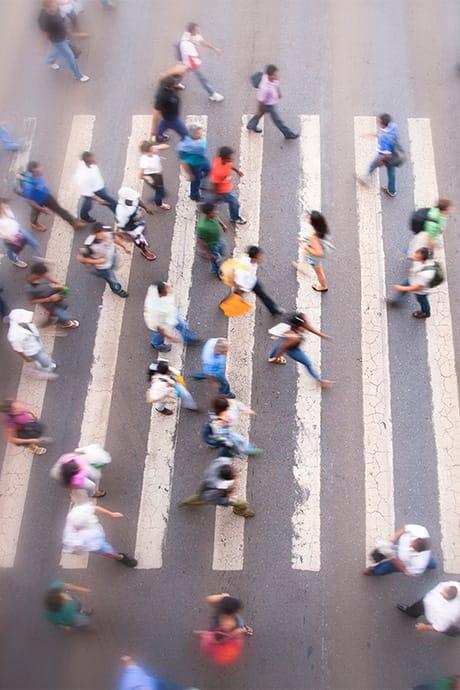 Fußgängerübergang von oben