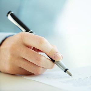Vertragsunterschrift